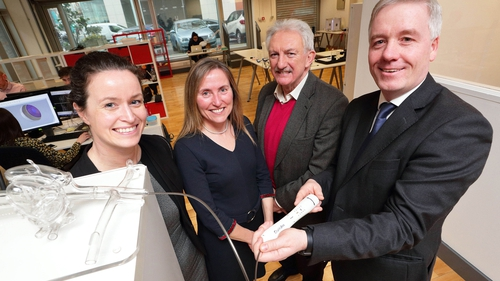 Dr Lucy O'Keeffe, CEO of CroíValve; Helen Ryan, from Atlantic Bridge; Bernard Collins, CroíValve Chairman and HBAN MedTech Syndicate member and Dr Martin Quinn, CMO of CroíValve