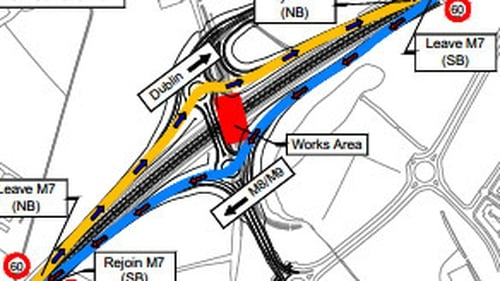 The demolition is part of the ongoing project to widen the motorway to three lanes