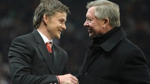 Ole Gunnar Solskjaer and Alex Ferguson