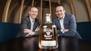 Jack Teeling, founder and managing director of Teeling Whiskey and  Stephen Teeling, Sales and Marketing Director