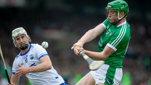Limerick's Shane Dowling scores a point against Waterford last summer