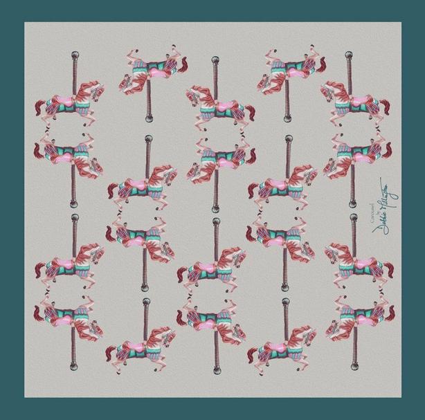 Carousel Silk Scarf