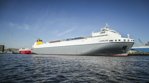 MV Laureline left Dublin for the port of Zeebrugge today