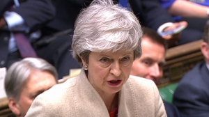 Theresa May said that backing the deal avoids a cliff edge in two weeks' time