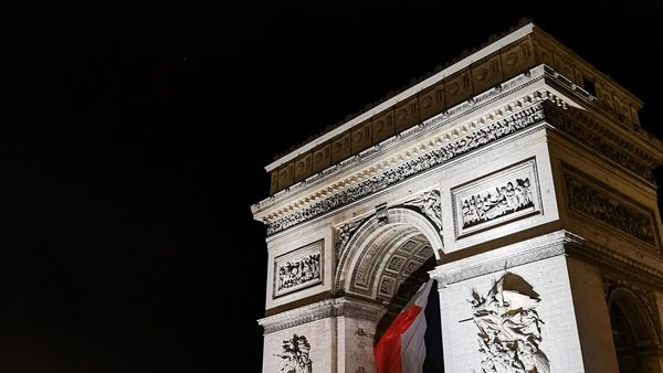 The Arc de Triomphe at night. Photo: Charlotte Ryan