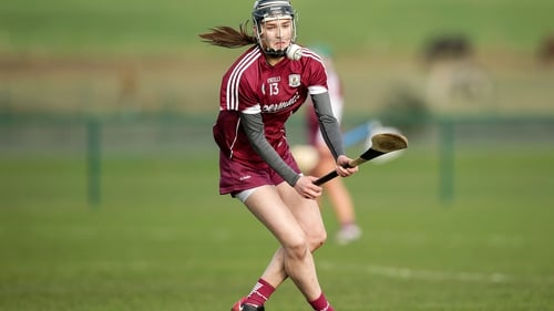 Carrie Dolan in action for Galway