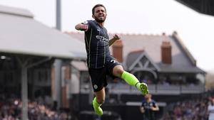 Bernardo Silva celebrates scoring