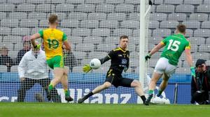 Thomas O'Reilly scores a goal for Meath