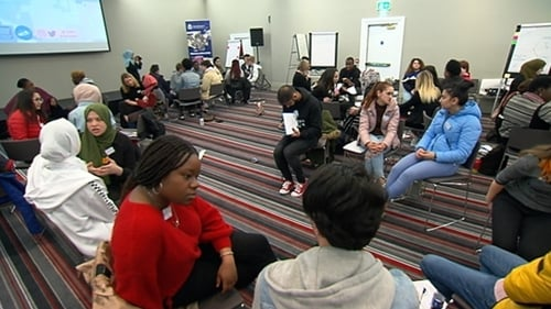 The young people gathered to talk about their experiences of racial discrimination, and their suggestions for making Ireland more inclusive