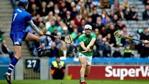 Aaron Gillane is foiled by Waterford goalkeeper Stephen O'Keeffe