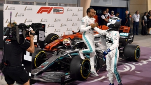Lewis Hamilton took advantage of the Ferrari's lack of speed to sail past Charles Leclerc and take an unlikely win, the first of his championship defence