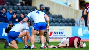 Joe Canning following his injury suffered in the defeat to Waterford in Nowlan Park