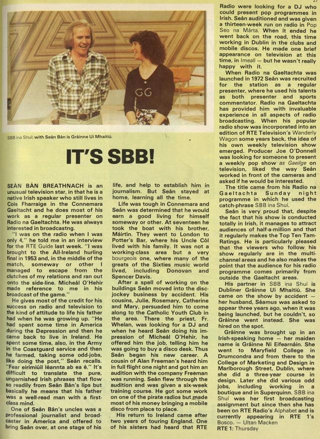 SBB ina Shuí, RTÉ Guide, 23 November 1979