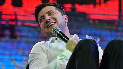 Volodymyr Zelensky looks set to become President of Ukraine