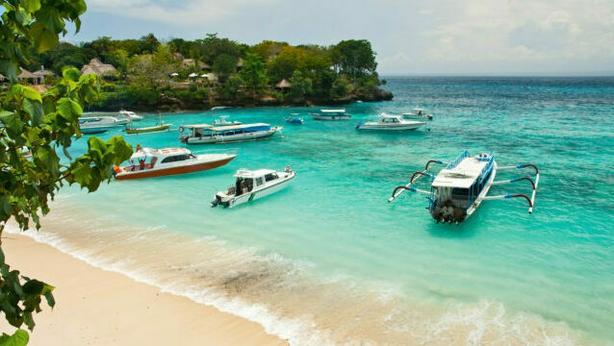 Mooring of boats in a bay of tropical island Lembongan (iStock/PA)