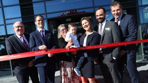 Pictured at the launch of the new store are (l) Martin Kelleher, Managing Director, SuperValu with members of the Nally family - Steven Nally, Michael Nally, Carmel Nally  and Steven's son Nathan