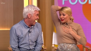 "Holly Willoughby with co-host Phillip Schofield - ""Oh my God, that was so awful! Oh my God, I was panicking so much!"" Screenshots: This Morning/ITV"