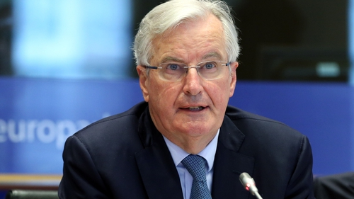 Michel Barnier was speaking at a meeting of EU officials