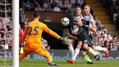 Sergio Aguero found the net against Fulham last weekend
