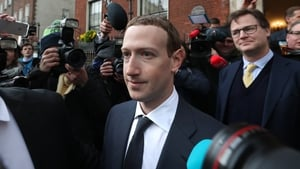 Facing the cameras: Facebook's Mark Zuckerberg in Dublin in 2019