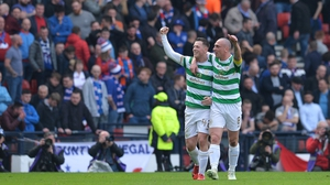 Callum McGregor, left, has backed team-mate and captain Scott Brown following a  controversial Old Firm derby
