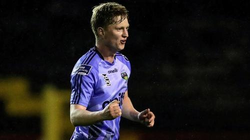 Timmy Molloy celebrates scoring UCD's late, late winner