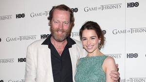 Iain Glen and Emilia Clarke