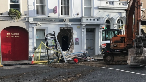 An ATM was taken from the AIB in Castleblayney, Co Monaghan