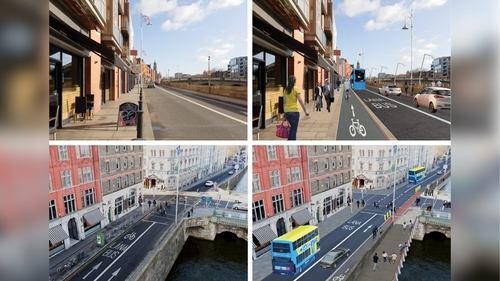 The proposed route would involve cycle tracks on both the north and south quays