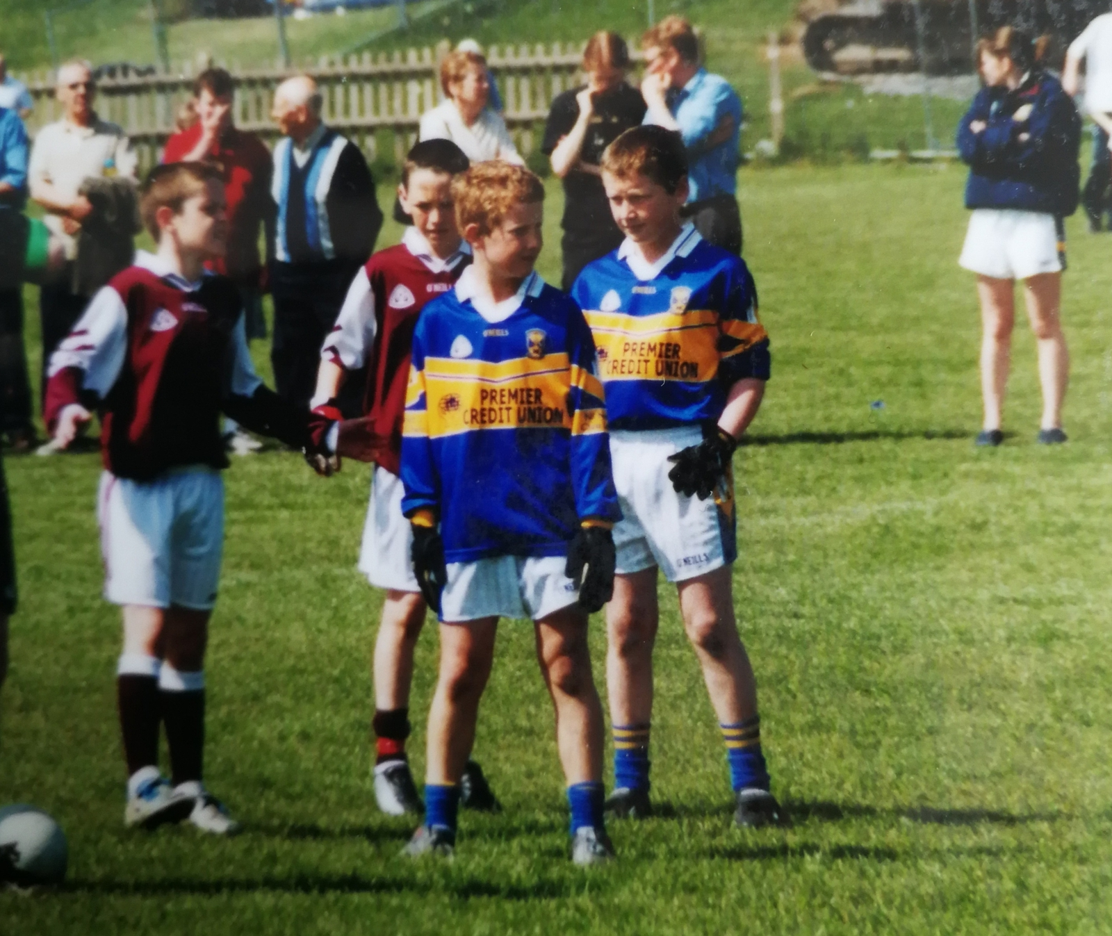 Image - Brian Fenton and Ciaran Kilkenny line up at midfield in an U11 clash between Raheny and Castleknock