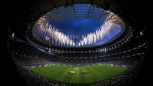 Fireworks over the Tottenham Hotspur Arena