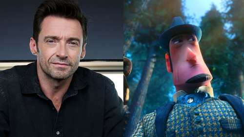 Hugh Jackman and his Missing Link character Sir Lionel Frost