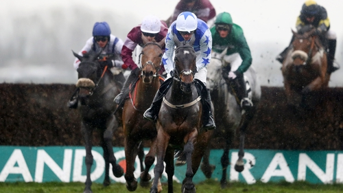 Kemboy en route to victory on the opening day of the Aintree Festival