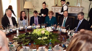 Representatives from the Irish border communities who met the chancellor say they were impressed by her knowledge of the issue