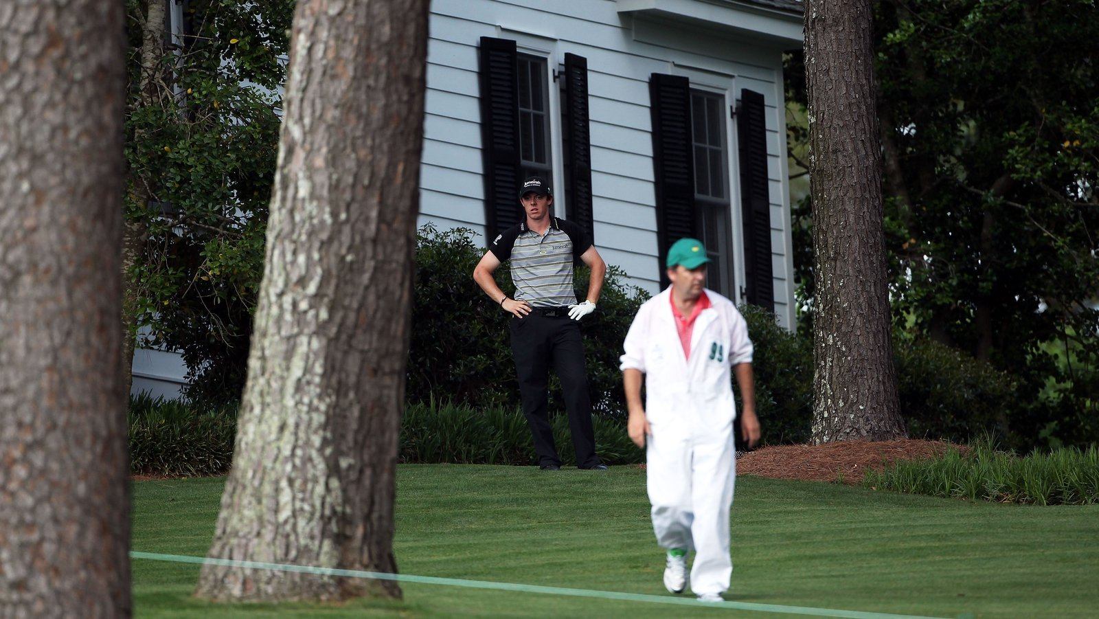 Image - Rory McIlroy watches it all unravel on the 10th hole on Sunday