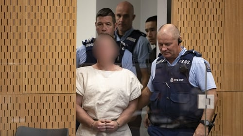 Brenton Tarrant faces 50 murder charges - image blurred as per court order