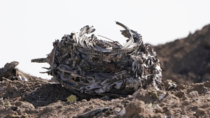 An engine recovered from a crater at the scene of the Ethiopian Airlines Flight 302 crash on 13 March