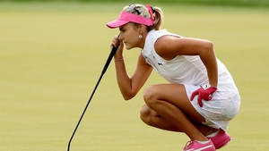 Lexi Thompson sits one shot off the lead at Mission Hills