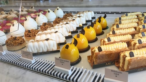 The jewel-like desserts at Angelina, Paris. Photo: Charlotte Ryan