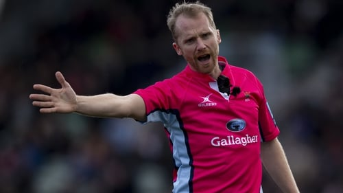 Wayne Barnes will wield the whistle at the Aviva