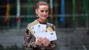 Tara McNeill helps launch the new Address Point service at the GPO in Dublin (Pic: Maxwells)