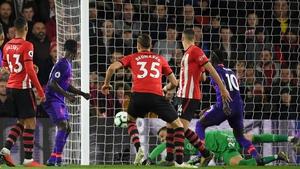 Naby Keita heads home for Liverpool