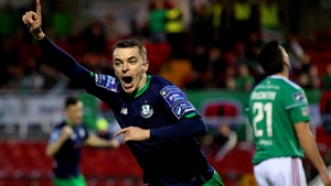Sean Kavanagh celebrates scoring the first goal