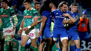 James Lowe scored Leinster's first try