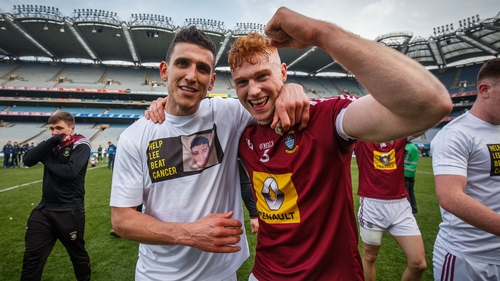 Westmeath players wore Lee Wallace tee-shirts after the game