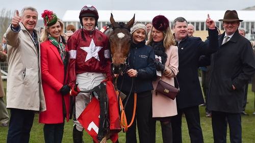 Winning connections including owner Michael O'Leary