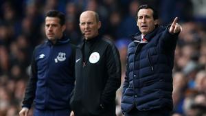Unai Emery's side were well beaten by Everton