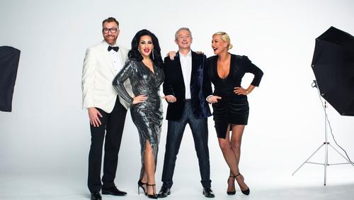 Ireland's Got Talent's judging line-up featured (L-R) Jason Byrne, Michelle Visage, Louis Walsh and Denise Van Outen