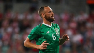 Meyler in action for Ireland against Poland in September