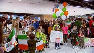 The troops had been due to arrive in Dublin on Thursday but their return, from Syria via Beirut, was delayed until today